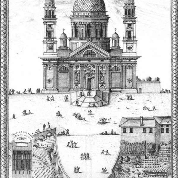 Il ponte di Carignano e la basilica dei Signori Sauli, 1724, Archivio Durazzo Giustiniani, Archivio Sauli, n.p. 1347